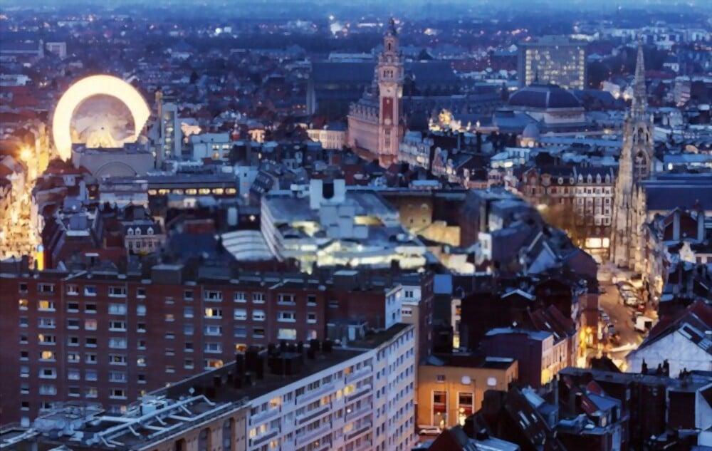 Vue aérienne de Lille. Lille, Nord-Pas-de-Calais, France, pour investir dans l'immobilier et saisir les opportunités