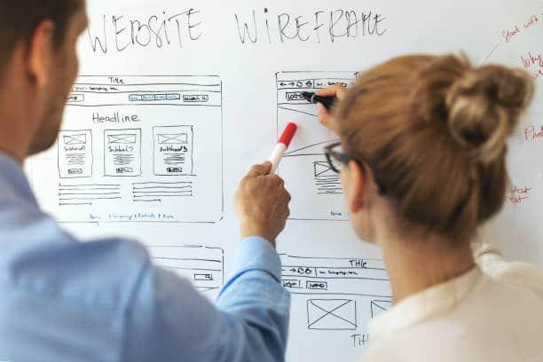 wireframe ux design exprience utilisateur parcours client webmarketing digital
