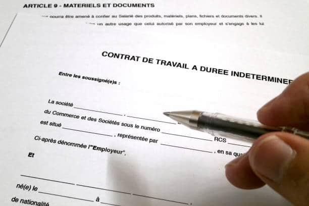 forme contrat de travail france CDD CDI contrat saisonnier senior temps partiel