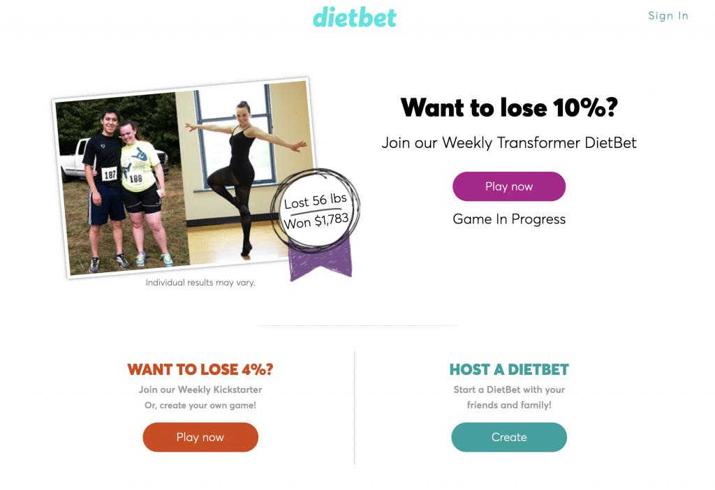 DietBet gain argent paypal