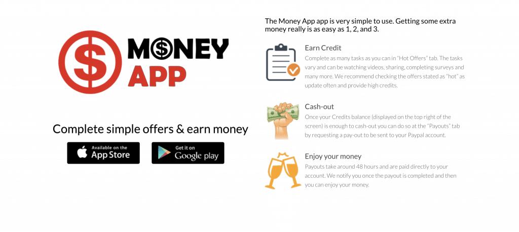 money app gagner argent paypal
